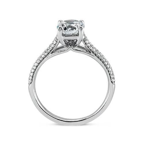 Prong Set 2.25 Carat Round Brilliant Diamonds Engagement Ring White Gold 14K New