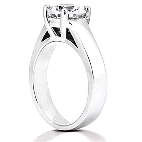 Diamond E Vvs1 Ring Prong Style 0.75 Ct. Solitaire Gold