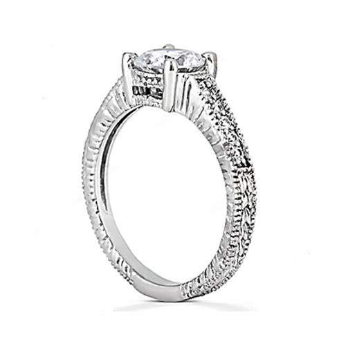 1.51 Carat E Vvs1 Diamond Solitaire With Accents Ring White Gold