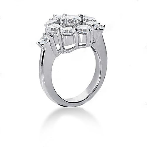 3.60 Ct. Diamond Engagement White Gold Ring G Vvs1 Jewelry