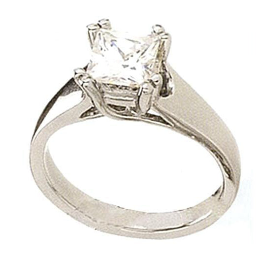 1.5 Carat Princess Solitaire Diamond Ring Engagement Solitaire Ring