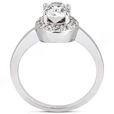 1.25 Ct. Diamond Halo Ring E Vvs1 Diamonds And Gold Halo Ring