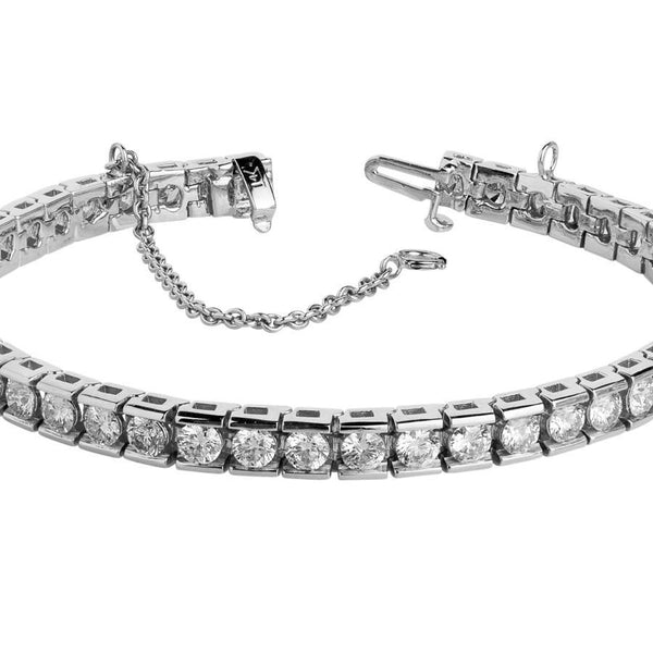 Tennis Bracelet Tennis Bracelet 9 Ct. Diamond Tennis Bracelet Channel Set White Gold