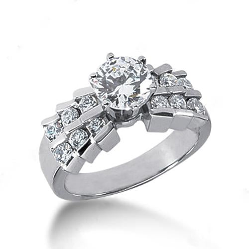 1.25 Carat Engagement Ring With Accents Gorgeous Diamonds Ring New Engagement Ring