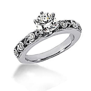 1.25 Carat F Vvs1 Round Cut Diamonds Ring Engagement Band Engagement Ring