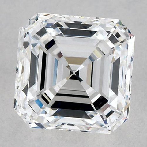 1.25 Carats Asscher Diamond Loose D Fl Very Good Cut Diamond