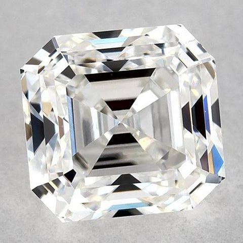 1.25 Carats Asscher Diamond Loose E Fl Very Good Cut Diamond