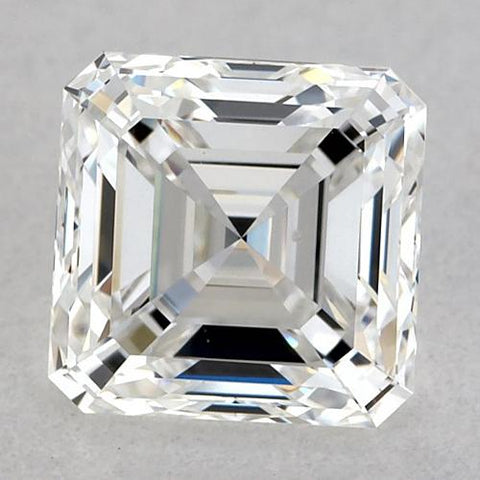 1.25 Carats Asscher Diamond Loose F Fl Very Good Cut Diamond