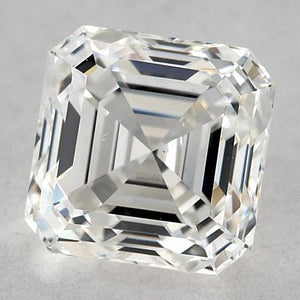 1.25 Carats Asscher Diamond Loose F Vvs2 Very Good Cut Diamond