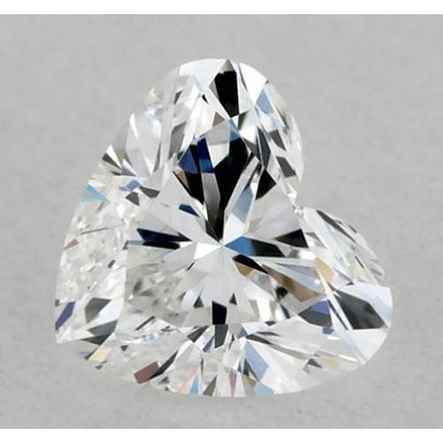 1.25 Carats Heart Diamond Loose E Vvs1 Very Good Cut Diamond