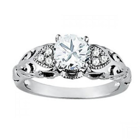 1.25 Carats Round Diamond White Gold 14K Engagement Fancy Ring New Engagement Ring