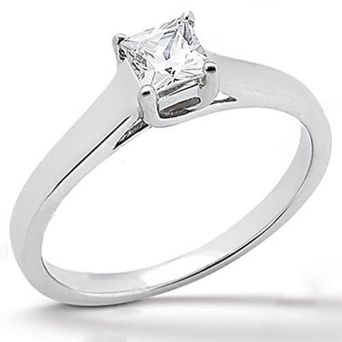 1.25 Ct. Diamond Ring Solitaire Princess Cut F Vs1 Solitaire Ring
