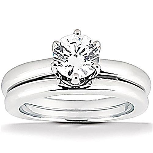 1.25 Ct. Diamonds Solitaire Engagement Ring Set Diamonds Engagement Ring Set