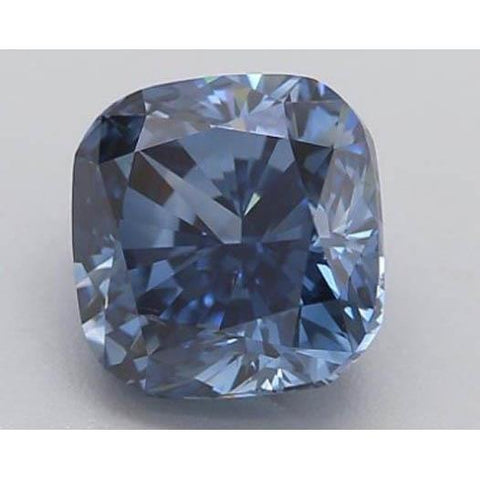 1.25 Ct Intense Blue Cushion Cut Loose Diamond Diamond