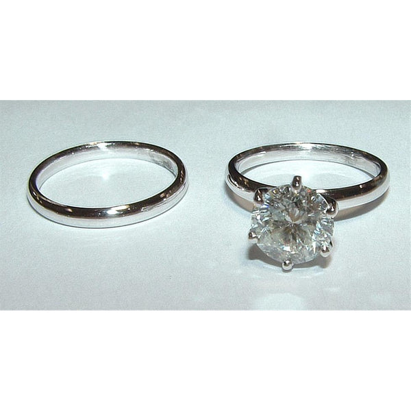 Diamonds 2.0 Ct G Vs1 Diamond Solitaire Ring Gold Solitaire Ring