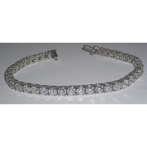 12.8 Carats Diamond Tennis Bracelet  D/E Vvs1/Vvs2  Jewelry White Gold 14K Tennis Bracelet
