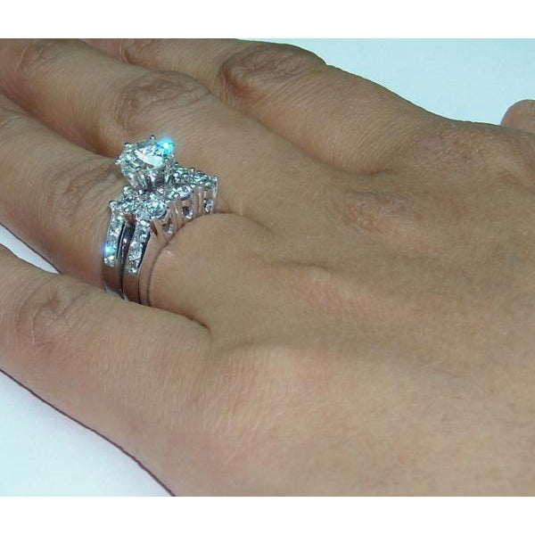 Engagement Ring Set 4 Carat Diamond Engagement Ring Set White Gold