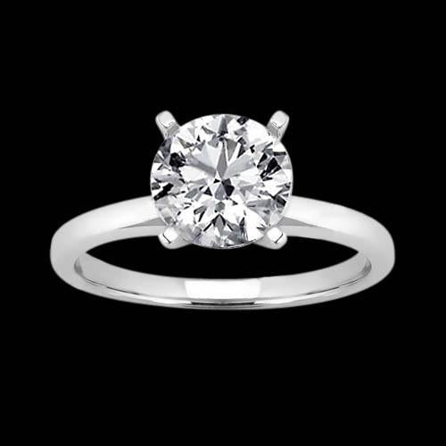 4 Prong Diamond Women Solitaire Jewelry Ring White Gold 3 Carats