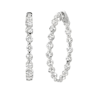 5.54 Carat Diamonds Hoop Earrings White Gold 14K Earring Women Jewelry