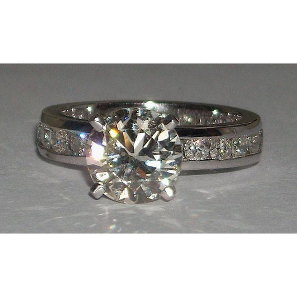 Engagement Ring Set 6.01 Carats Diamond Engagement Fancy Ring And Band Set