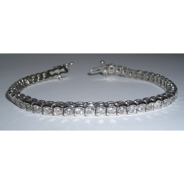 Tennis Bracelet 6.86 Carat Diamond Tennis Bracelet Vs Jewelry Hand Gold