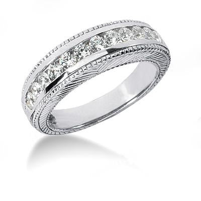 Engagement Ring Set Beautiful 2.01 Carat Diamonds Engagement Ring Set White Gold