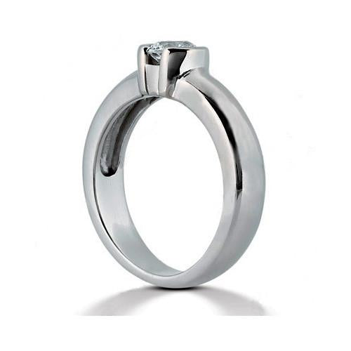 Solitaire Ring Diamond Solitaire Ring 1.01 Ct. White Gold 14K