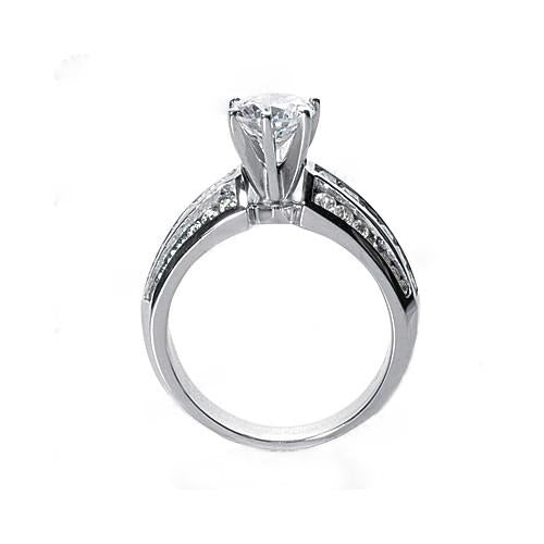Diamonds Engagement Fancy Ring 2 Carats Diamonds Ring Gold