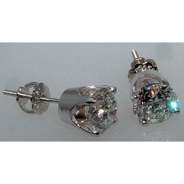 F Vs1  Diamond Studs Earring Studs Earrings 2.51 Ct.