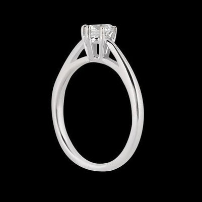 Solitaire Ring 3 Carat Diamond Solitaire Engagement Ring White Gold 14K