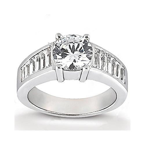 Solitaire Ring with Accents