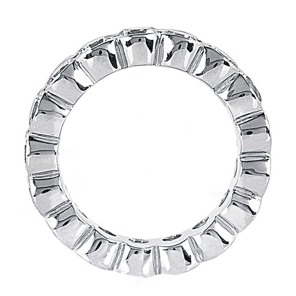 Eternity Band 5.1 Carat. F Vs1 Diamonds White Gold Eternity Engagement Band New
