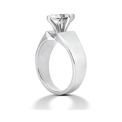 Solitaire Ring Marquise Diamond Solitaire Ring 2.50 Carats White Gold 14K