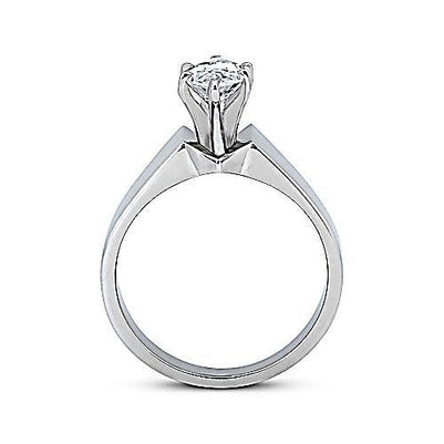 Marquise Diamond Solitaire Ring 2.50 Carats White Gold 14K Solitaire Ring