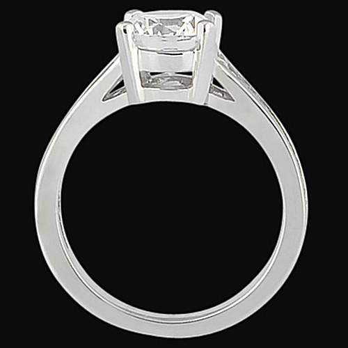 Solitaire Ring Channel Setting Diamond 2.31 Carat Engagement Solitaire Ring