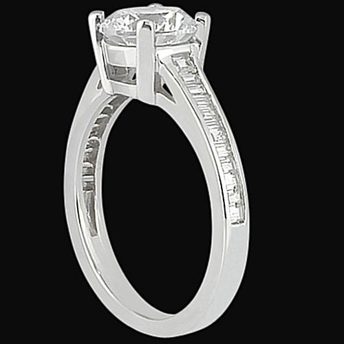 Channel Setting Diamond 2.31 Carat Engagement Solitaire Ring Solitaire Ring