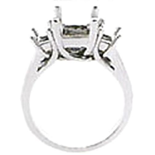 Diamond Engagement Ring Gold Princess Cut 3 Stone