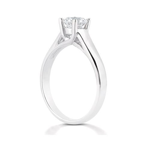 Diamond F Vs1 Solitaire 1.01 Ct. Jewelry Engagement Ring
