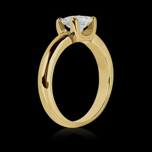 Diamond Solitaire Ring 0.75 Ct. Yellow Gold New Jewelry