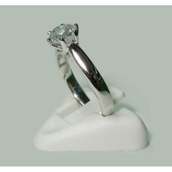 Solitaire Ring Diamond Solitaire Ring White Gold 1.30 Carats Jewelry New