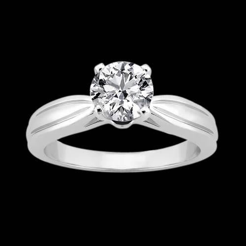 Diamond Solitaire Engagement Ring 2.5 Carat Gold White