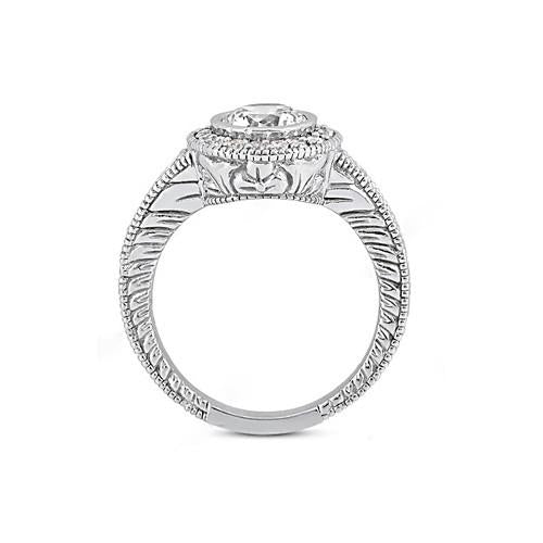 Diamonds 1.35 Ct. Ring E Vvs1 Diamonds Halo Ring Gold