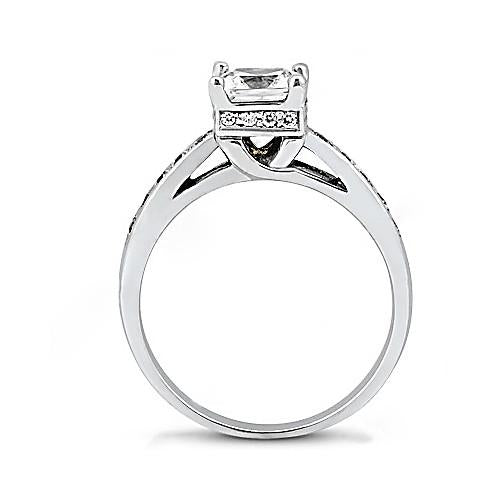 Solitaire Ring with Accents Diamonds F Vvs1 Engagement Ring 2 Cts. Diamond Jewelry