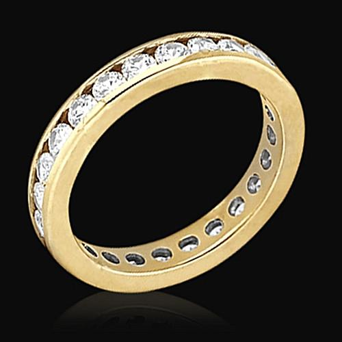 E Vvs1 Diamonds 1.68 Ct. Gold Eternity Engagement Band