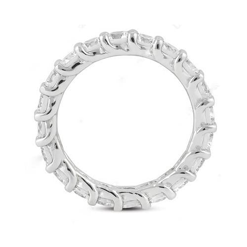 Eternity Band E Vvs1 Diamonds 2 Carat White Gold Engagement Eternity Band New