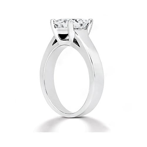 F Vs1 Diamond Princess Cut Solitaire Ring 1.51 Ct. White Gold 18K Jewelry