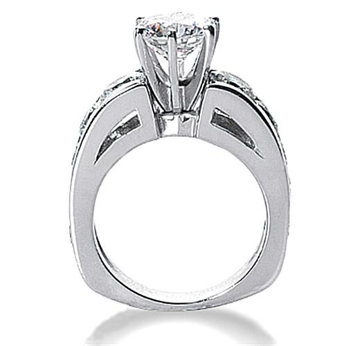 F Vs1 Diamonds  Engagement Ring Women  With Accents 4.25 Cts
