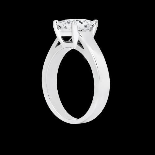 Solitaire Ring 1.50 Carats Solitaire Princess Diamond Ring White Gold 14K