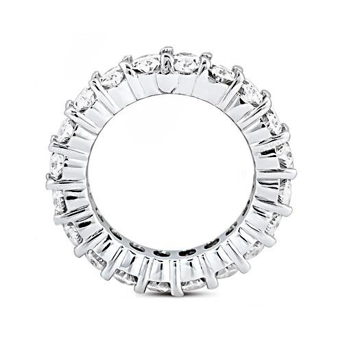 Oval Cut Diamond Eternity Engagement Band 9.5 Ct. Diamonds Eternity Band