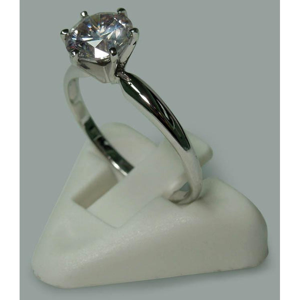 Round Brilliant Diamond 1.75 Carat 6 Prong Set Engagement Solitaire Ring White Gold 14K New